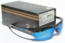 SERENGETI Linosa POLARIZED Sunglasses Satin Black/Blue PhD 555nm NEW 8749 Japan