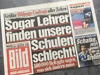 BILD Zeitung 14. April 2011 / 4. / 14.04.2011 / FC Schalke 04 Halbfinale