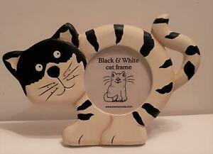 Collectable Cat picture frame. Black & White Cat, New & boxed