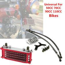 Motorcycle Dirt Bike Aluminum Oil Cooler Radiator Set For 50 70 90 110CC Engines