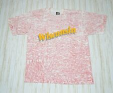 New listing Wisconsin Map All Over Print Single Stitch Graphic T Shirt Size L Vintage