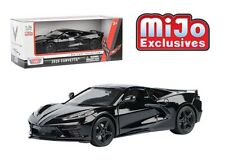 MOTOR MAX 1:24 2020 BLACK CHEVY CORVETTE C8 MID ENGINE STINGRAY MODEL 79360BK