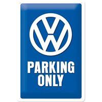 Blechschild VW Parking 20 x 30 cm Volkswagen Service Golf Käfer Bulli NEU/OVP