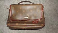 Texier Brown Leather Briefcase Laptop Bag Satchel