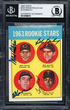 Oliva, Kranepool, Alvis Bailey Autographed 1963 Topps Rookie Card Beckett 56815