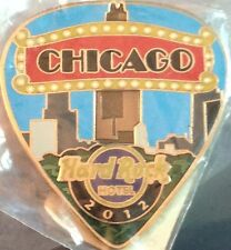 Hard Rock Hotel CHICAGO 2012 POSTCARD Series Guitar Pick PIN Post Card HR #68022