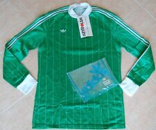 ADIDAS VINTAGE SHIRT NEW FOOTBALL 80'S GREEN MADE IN FRANCE L