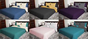 Zweiseitige Tagesdecke Bettüberwurf doppelseitig 170X210 200X220 220x240 NEU