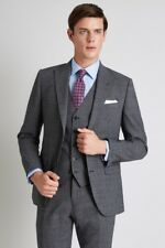 Moss 1851 Performance Grey Suit Jacket Check Tailored Fit Jacket - Size: 40S
