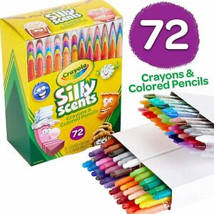Crayola Silly Scents Twistables Scented Crayons and Colored Pencils, 72 Count