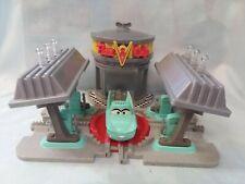 Disney Pixar Cars GeoTrax Transportation Train System Flo's V-8 Café Sounds!
