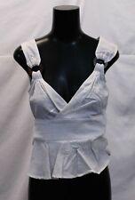 ASOS Women's Wrap Sun Top With Ring Detail SV3 White US:4 UK:8