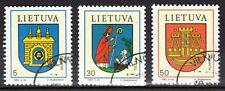 Lithuania - 1993 Coats of arms - Mi. 526-28 FU