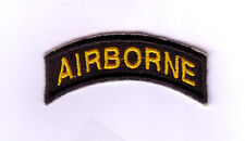 """WWII - AIRBORNE Tab """"Black/Gold""""(Reproduction)"""