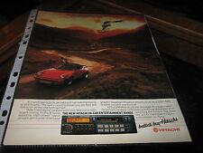 Hitachi Radio Cassette anuncio con Porsche 911 Reg no C693TLO