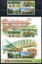 Sri Lanka 2011 Brücken Bridges Architektur 1845-1848 + Block 124-125 ** MNH