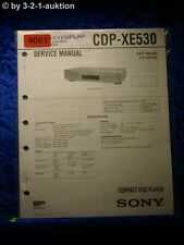 Sony Service Manual CDP XE530 CD Player (#4061)