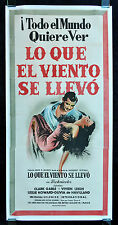 GONE WITH THE WIND * CineMasterpieces ORIGINAL MOVIE POSTER SPAIN 1950S R