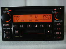 01 02 03 04 TOYOTA Tacoma AM FM Radio Tape Cassette CD Player A56823 Factory OEM
