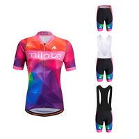 Women's Bicycle Clothing Reflective Cycling Jersey and (Bib) Shorts Set S-5XL