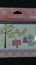 Happy Woodland Girl Invitations (8 Pack) - Party Supplies Fill in the Blank