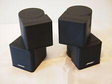 2 x Bose Lifestyle Premium Jewel Cube Speakers (Ref-p485) Black