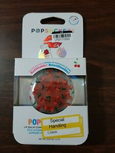 PopSockets Popgrip Lips Holder with Lip Balm Cherries New in Box