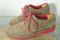 Steve Madden KIKSTART Oxfords Men Size 8.5 Suede Wingtip Shoes