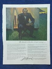 1956 Vintage Magazine Patriotic Ad ~ General U.S. Grant ~ John Hancock Insurance