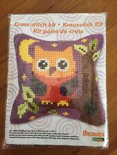 """BNIP Orchidea Owl 10""""x10"""" Cushion Cross Stitch Kit"""