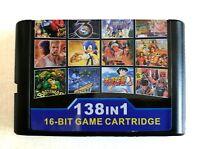 Super 138 in 1 Game Cartridge 16 Bit For Sega GENESIS Mega Drive Multi Cartridge