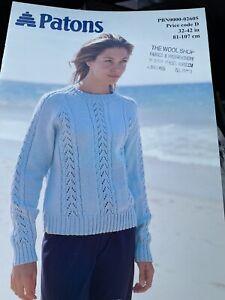 Patons Knitting Pattern PB-02605  DK Sweater