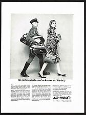 1964 Vintage Air India Indian Airline Bag Mod Fashion Photo Print Ad