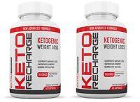 Keto Pills Diet BHB Salts Exogenous Ketones MCT Apple Cider Vinegar 2 Bottles