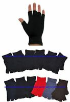 Wholesale 12 Pairs Knit Fingerless Half Finger Magic Sports Gloves Mittens NY