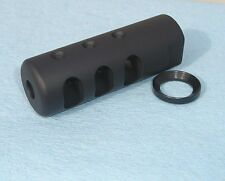 1/2-28 MUZZLE BRAKE MADE IN THE USA .22 .223 5.56 223 WITH CRUSH WASHER