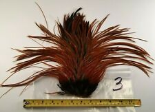 BROWN FURNACE ROOSTER SADDLE HACKLES THIN DRY FLY TYING CRAFT HAIR FEATHERS #3
