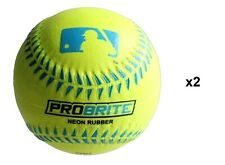 Franklin Sports MLB ProBrite Neon Color Soft Rubber Tee Ball Baseballs (2 Pack)