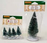 Lot Of 2 Lemax Village Collection #94653 #94644 Frosted Pine Tree Christmas Xmas