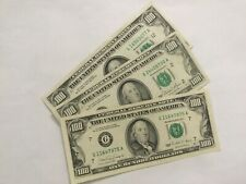 """(1) $100 FEDERAL RESERVE HUNDRED DOLLAR BILL. """"SMALL HEAD"""" OLD CURRENCY.."""
