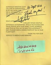 lot of 10 notes from Astronauts-nasa personnel- Autograph,Hand Signed