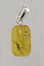 Fossil Gnat Inclusion Genuine Baltic Amber Silver Pendant 1.7g p151013-23