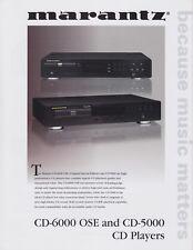 Marantz CD-6000 OSE/CD-5000 Original CD Player Brochure