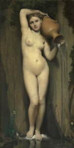 Jean Auguste Dominique Ingres The Source Giclee Canvas Print Poster LARGE SIZE