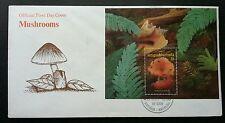 Antigua & Barbuda Seashell & Mushroom 1999 Plant Flora Shell Fungi (FDC)