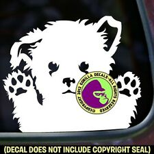 Maltese CUTE PUPPY CAR WINDOW Vinyl Decal Sticker Dog Bumper Sign Car Laptop