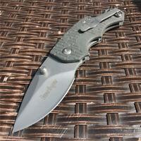 Folding Knife 8Cr15Mov Blade ABS Steel Handle Pocket Knives Hunting EDC Tools