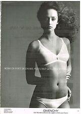 Publicité Advertising 1981 Lingerie sous vetements soutien gorge Givenchy