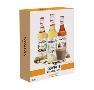 MONIN COFFEE SYRUP GIFT SET 3 x 5 cl - INCLUDES 3 DIFFERENT FLAVOURS