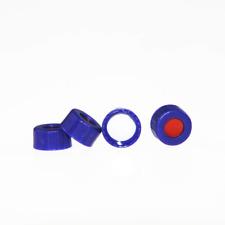 ALWSCI 9-425 Screw Thread Caps with Septa, White PTFE/Red Silicone Septa, 100